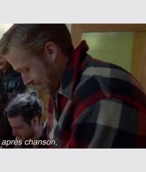 Ryan Gosling Song To Song BV Wool-Blend Plaid Jacket