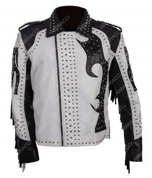 Silver Studded Fringe Jacket