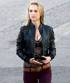 Natalie Portman Black Leather Jacket