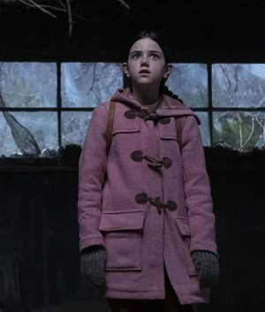 Tales from the Loop Young Girl Pink Coat