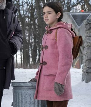 Abby Ryder Fortson Tales From The Loop Pink Hooded Young Girl Coat