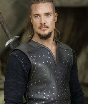 Uhtred The Last Kingdom Alexander Dreymon Black Leather Vest