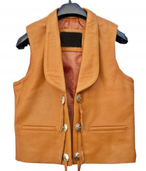 Bonanza Lorne Greene Leather Vest