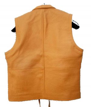 Ben Cartwright Brown Tan Bonanza Leather Vest