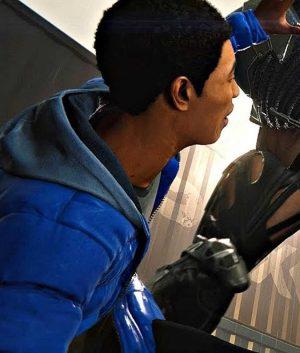 Marvel Spider-man PS4 Miles Morales Puffer Hoodie