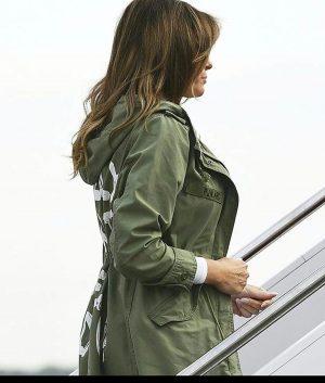 Melania Trump Jacket With Hooded