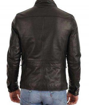 Mens Racer Four Pocket Black Jacket