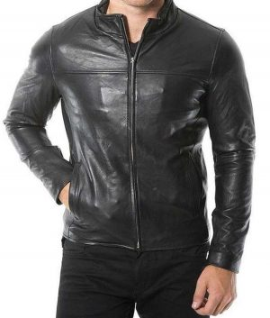 Mens Plain Café Racer Jacket