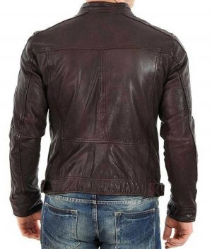 Mens Racer Casual Brown Jacket