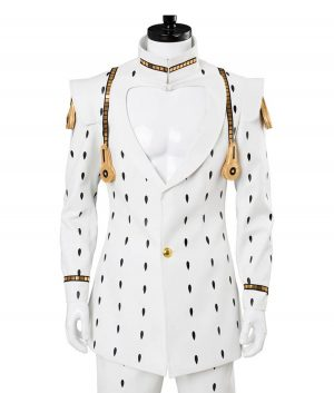 Jojo's Bizarre Adventure Black Dot Bruno Bucciarati White Suit