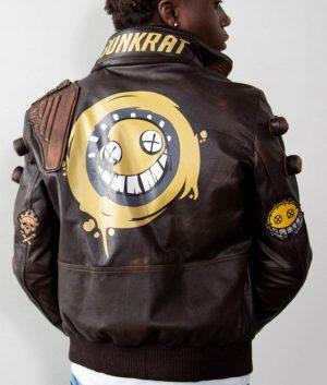Mens Junkrat Steampunk Leather Jacket