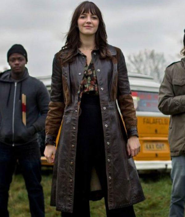 Kat And The Band Ella Hunt Leather Coat