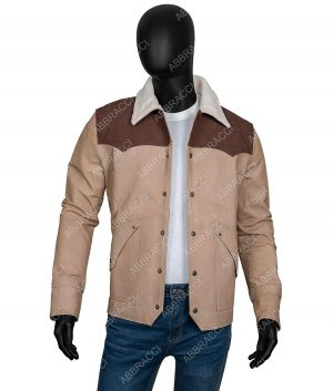 Yellowstone S03 Kevin Costner John Dutton Shearling Jacket