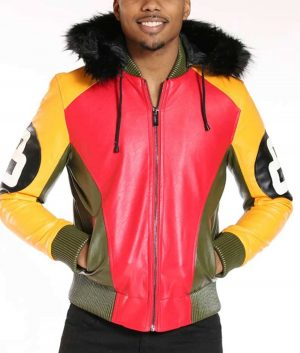 Men's 8 Ball Fur Hood Jacket