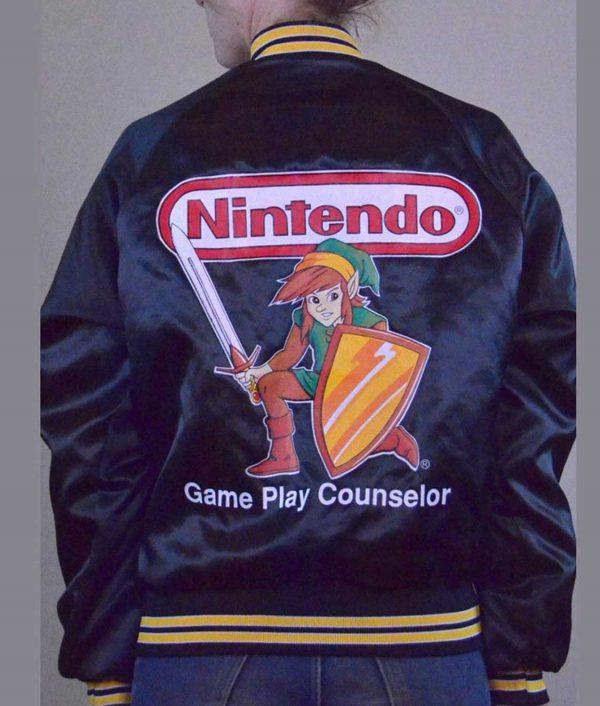 Nitendo Game Conselor Bomber Jacket