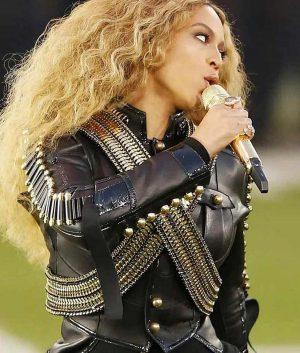 Pepsi Super Bowl 50 Halftime Show Beyonce Militry Jacket