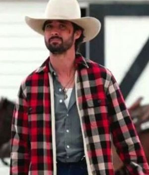 Yellowstone S03 Walker Red Plaid Jacket