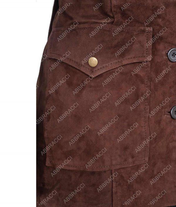 Beth Dutton Yellowstone Season 02 Kelly Reilly Wool Blend Coat With Fur Collar