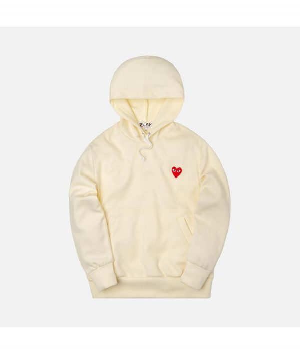 comme des garcons ivory hoodie