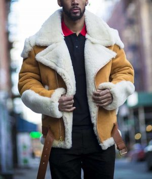 Andrew Tan Suede Leather Jacket