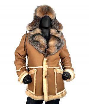 Calvin Sheepskin Toggled Coat