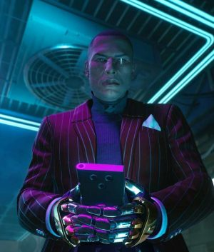 Cyberpunk 2077 Mr. Goldhand Striped Blazer