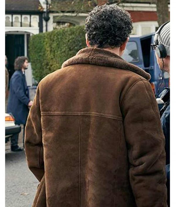 Peter Jay Des Daniel Mays Brown Shearling Collar Coat