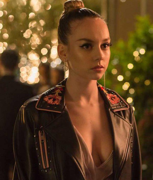 Elite Ester Exposito Black Leather Jacket
