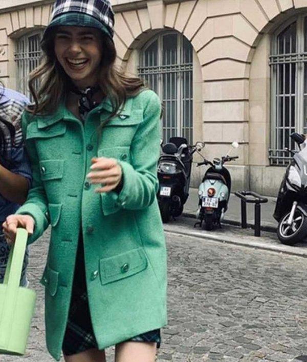 Emily In Paris Multi-Pocket Mid-Length Coat