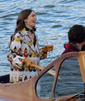 Emily in Paris Lily Collins Trench Coat