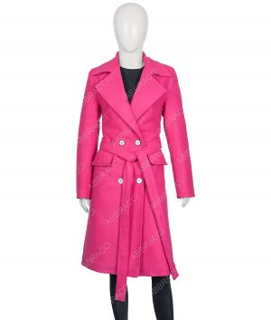 Lily Collins Emily in Paris Emily Pink Trench Coat
