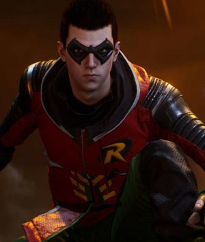 Tim Drake Gotham Knights Robin Leather Jacket