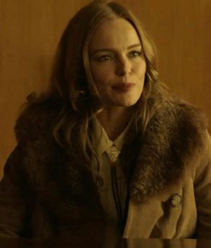 Kate Bosworth The Devil Has a Name Wool-Blend Trench Coat