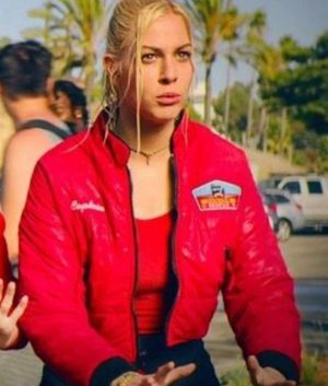 Malibu Rescue The Next Wave Red Bomber Jacket
