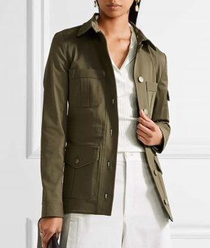 Cotton Blend Melania Trump Military Jacket