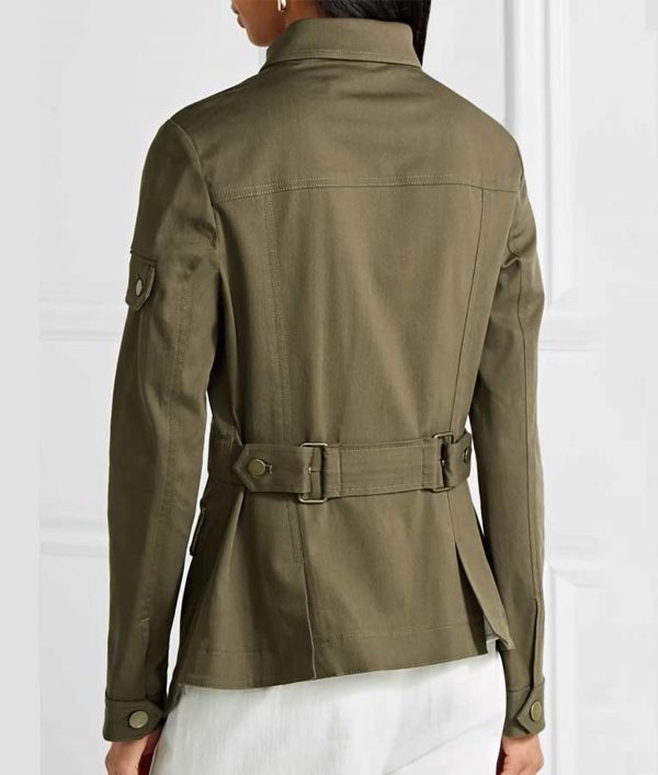 Melania Trump Military Cotton Blend Jacket