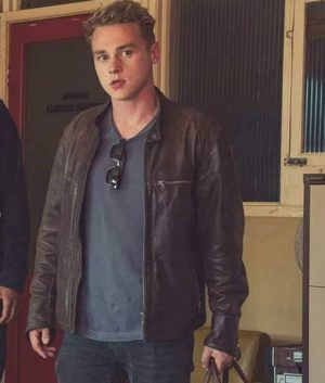 Pixie Ben Hardy Brown Leather Jacket