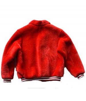 Red Fur Sheep Bomber Jacket