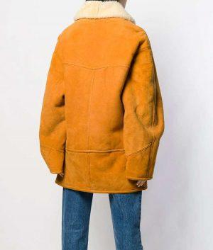 Scarlett Mid Length Shearling Coat
