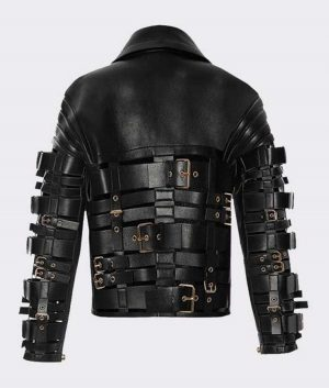 Straps and Buckles Zendaya Coleman Motorcycle Leather Jacket