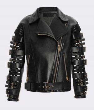 Straps and Buckles Zendaya Coleman Jacket