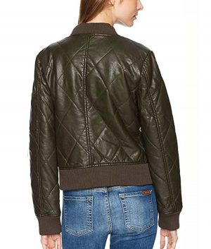 The 100 S06 Raven Reyes Quilted Bomber Jacket