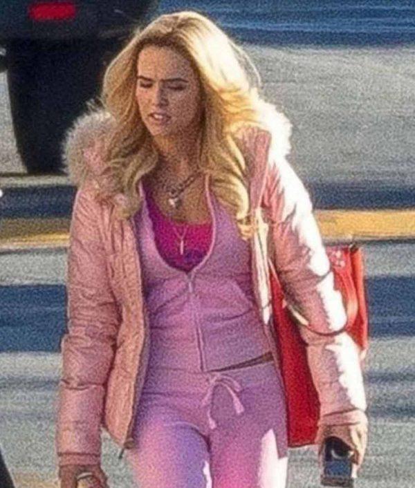 Zoey Deutch Zombieland Double Tap Jacket With Fur Hood