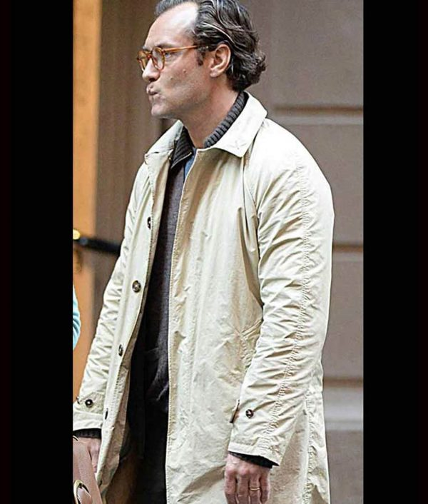A Rainy Day In New York Jude Law Cotton Coat