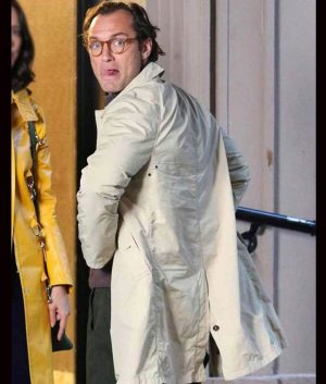 Ted Davidoff A Rainy Day In New York Jude Law Cotton Coat