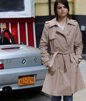 Selena Gomez A Rainy Day In New York Coat