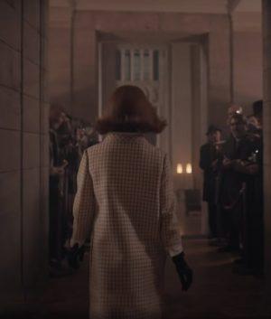 Anya Taylor-Joy The Queen's Gambit Checkered Coat