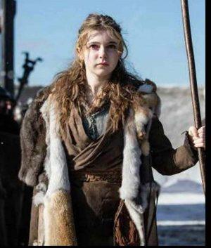 Britannia S03 Eleanor Worthington-Cox Fur Long Coat