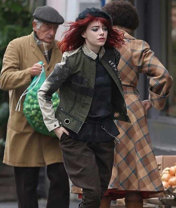 Cruella 2021 Emma Stone Cruella Deville Cotton Jacket
