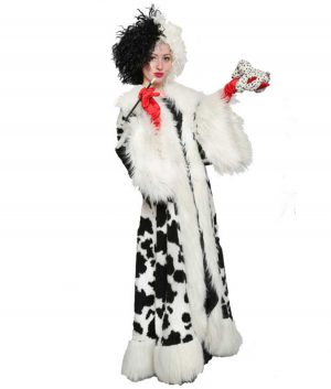 Cruella Deville Black Dot Fur Coat